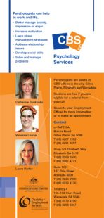 Psychology services brochure
