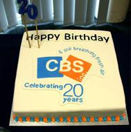 CBS Inc. 20-year Celebration Cake