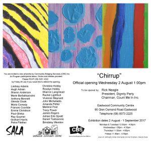 chirrup art exhibit