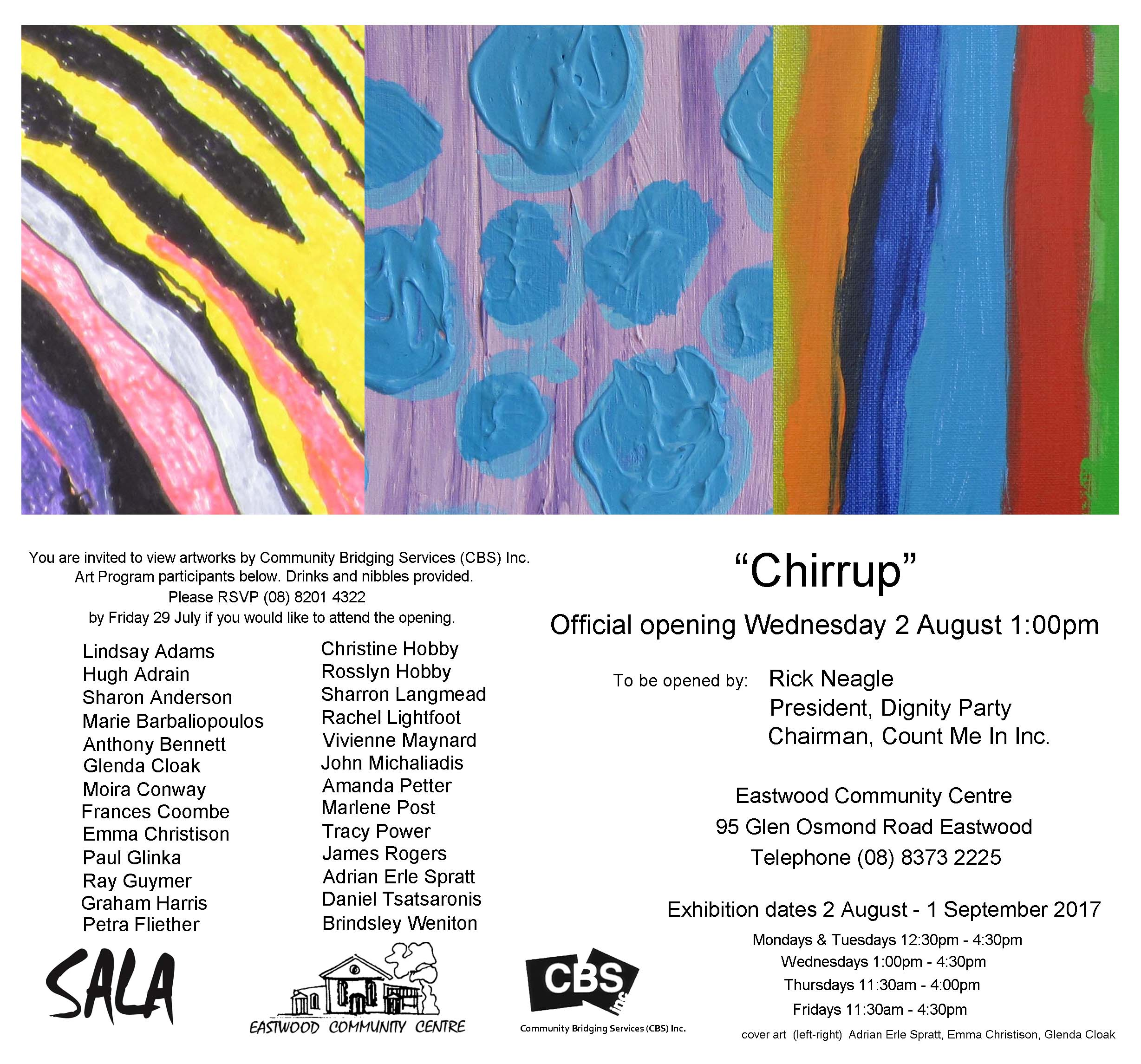 chirrup art exhibit
