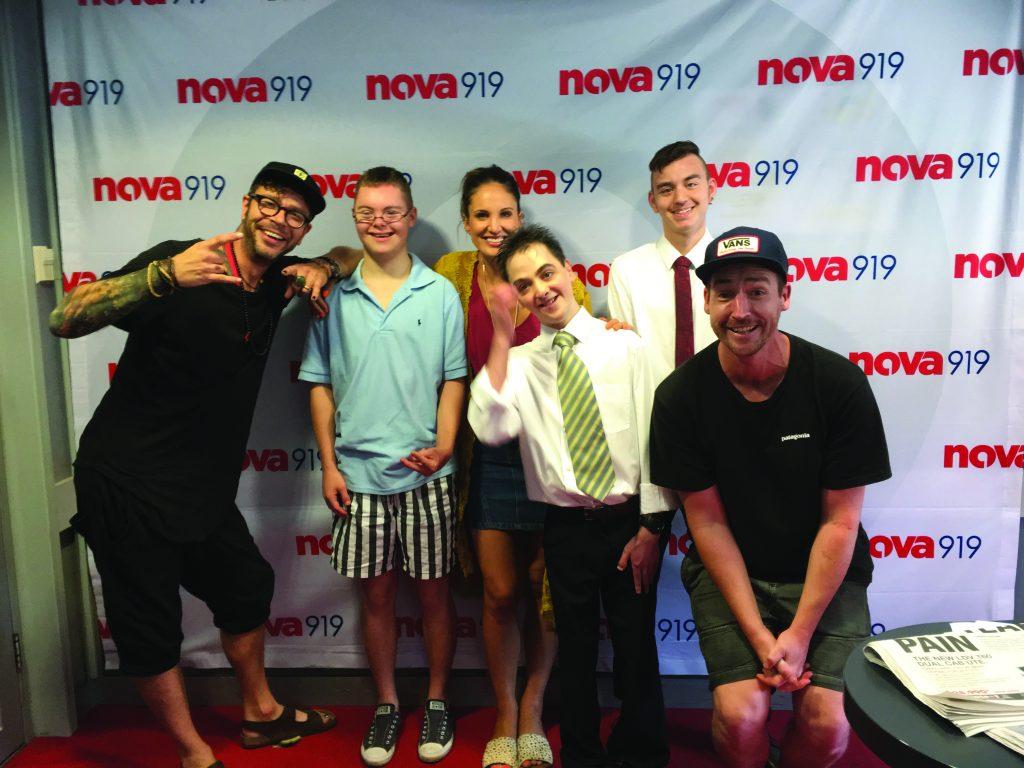 A School 2 work team visit nova (the radio station)