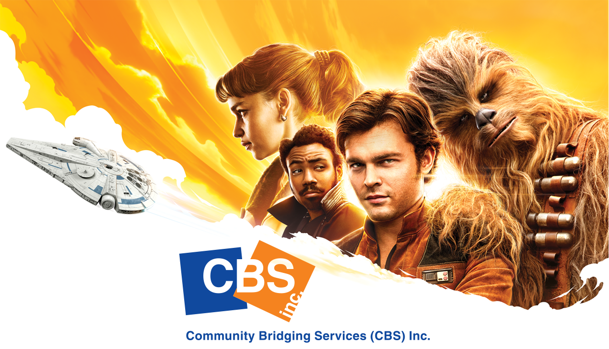 poster for Han Solo movie with CBS logo in front